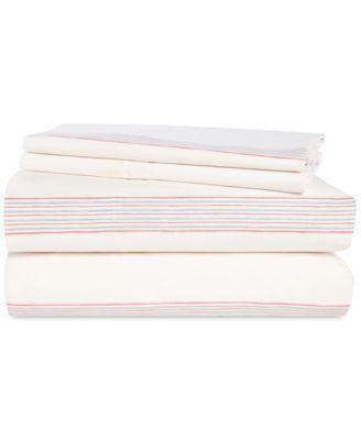 Marley Cotton 4-Pc. Stripe Queen Sheet Set