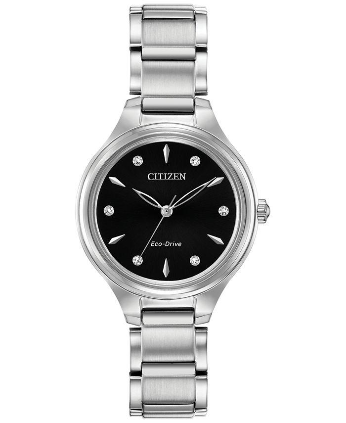 Citizen - Women's Corso Diamond-Accent Stainless Steel Bracelet Watch 29mm