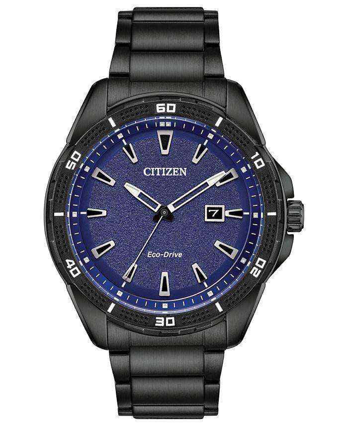 Citizen - Men's Black Stainless Steel Bracelet Watch 45mm