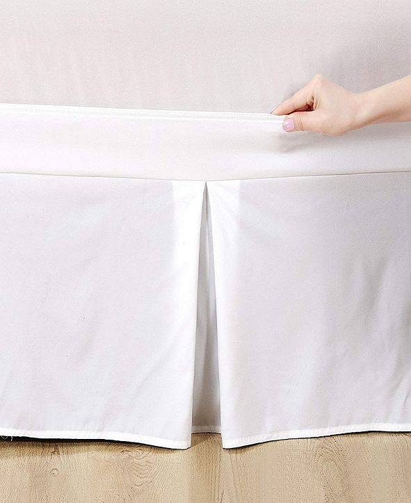 De Moocci Microfiber Tailored Bed-Skirt Abrasion Resistant, Quadruple Pleated  - Queen