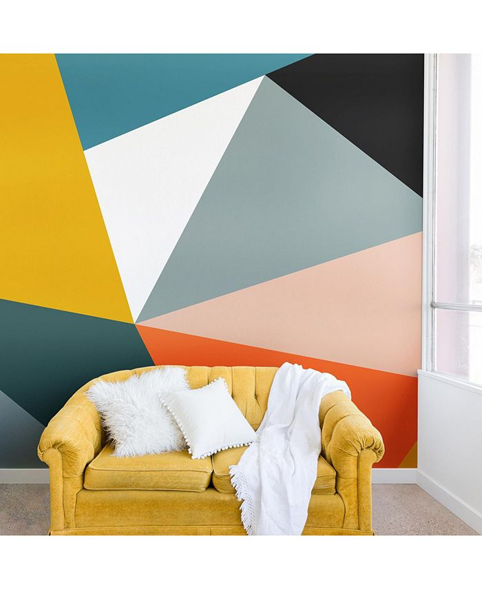 Deny Designs - The Old Art Studio Modern Geometric 33 Wall Mural