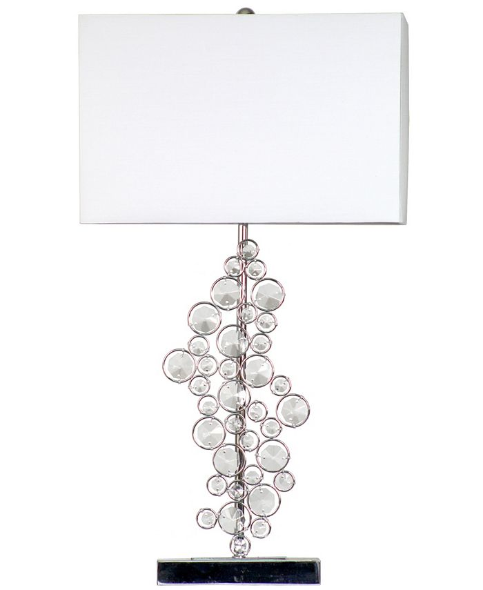 All The Rages - Prismatic Crystal Sequin and Chrome Table Lamp