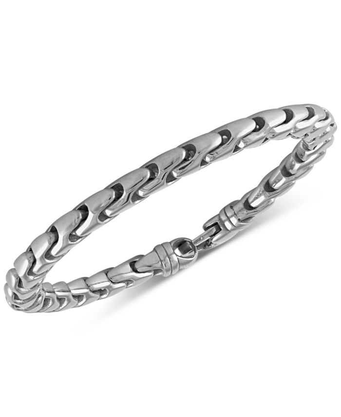 Esquire Men's Jewelry Link Bracelet in Stainless Steel, Created for Macy's & Reviews - Bracelets - Jewelry & Watches - Macy's