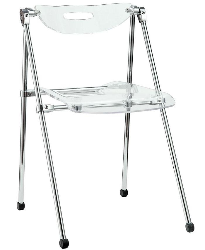 Modway - Telescope Folding Chair in Clear
