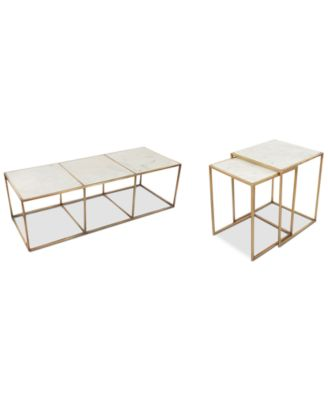 Isla Marble Table Furniture, 2-Pc. Set (Coffee Table and End Table)