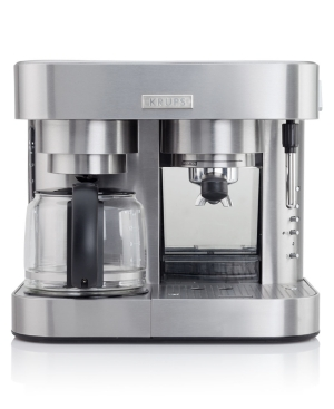 Krups XP604050 Coffee Maker and Espresso Machine, 10 Cup Combi