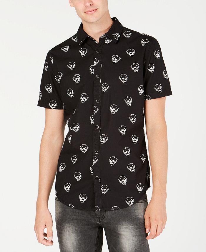 INC International Concepts - Men's Sketched Skull Shirt