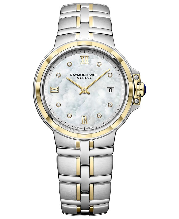 Raymond Weil - Women's Swiss Parsifal Diamond-Accent Two-Tone PVD Stainless Steel Bracelet Watch 30mm