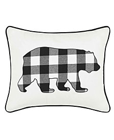 Eddie Bauer Cabin Plaid Bear Decorative Pillow