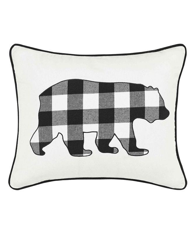Eddie Bauer Cabin Plaid Bear Decorative Pillow