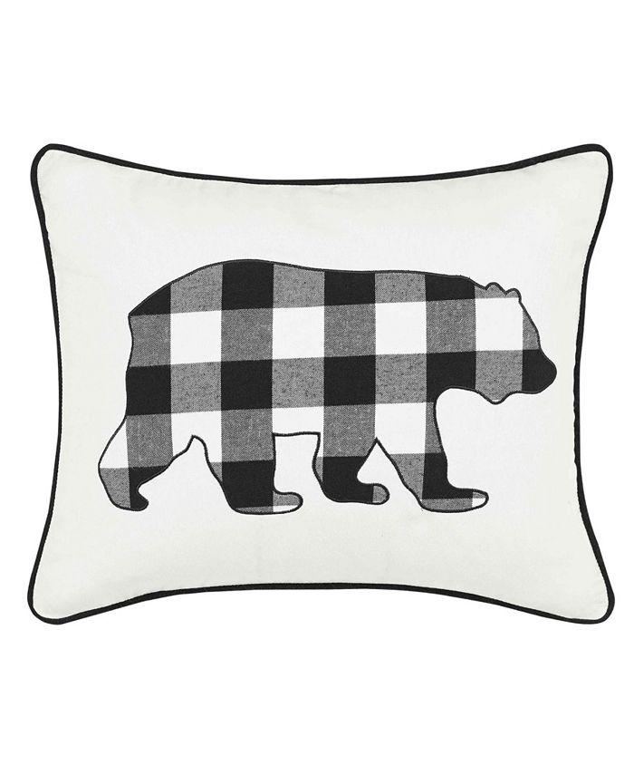 Eddie Bauer - Cabin Plaid Bear Decorative Pillow