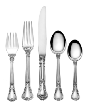 Gorham Sterling Silver Flatware, Chantilly 5 Piece Dinner Place Setting