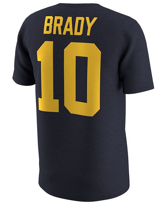 Nike Men's Tom Brady Michigan Wolverines NCAA Name and Number T-Shirt