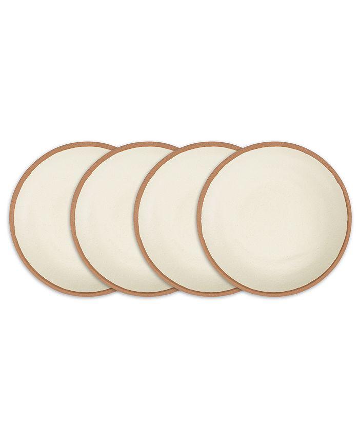 "Q Squared - Potter Terracotta 8"" Melaboo 4-Pc. Salad Plate Set"