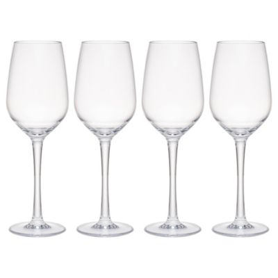Hudson 21 oz Tritan Acrylic 4-Pc. Red Wine Glass Set