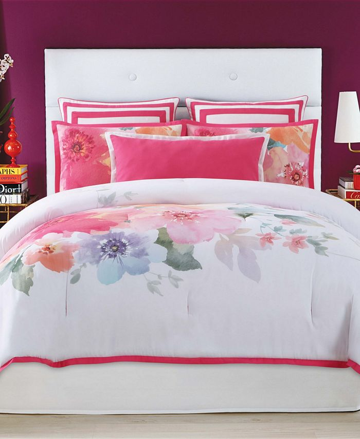Christian Siriano New York - Christian Siriano Bold Floral Full/Queen 3 Piece Comforter Set