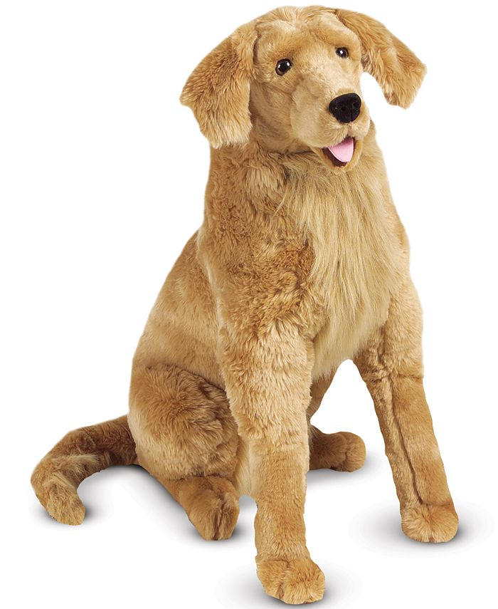 Melissa and Doug - Plush Lifelike Giant Golden Retriever Dog