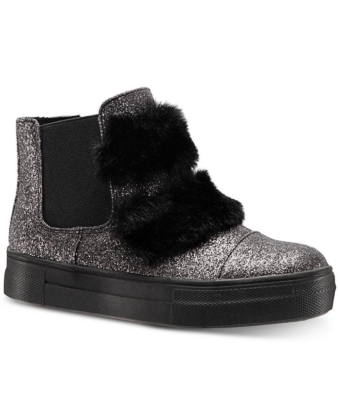 Nina - Helen Hi-Top Sneaker with Faux-Fur Trim, Toddler, Little Girls (4.5-3) & Big Girls (3.5-7)