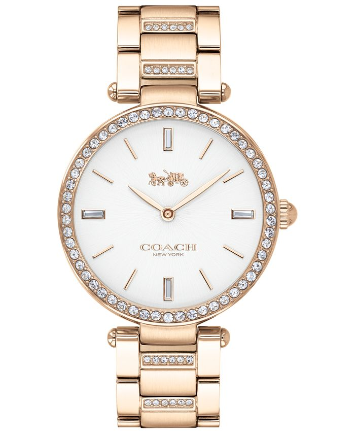 COACH - Women's Park Carnation Gold-Tone Stainless Steel Bracelet Watch 34mm