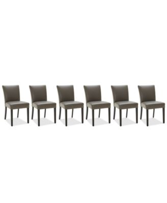 Furniture Tate Leather Parsons Dining Chair 6 Pc Set 6 Side Chairs Reviews Furniture Macy S