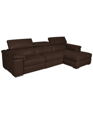 gavin leather sectional living room furniture collection With gavin leather chaise sectional sofa 3 piece