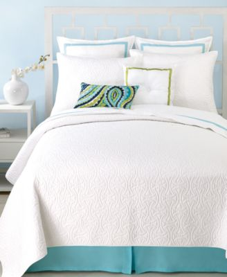 Trina Turk Santorini White Full/Queen Coverlet
