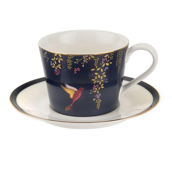 Portmeirion  Sara Miller Teacup & Saucer Navy