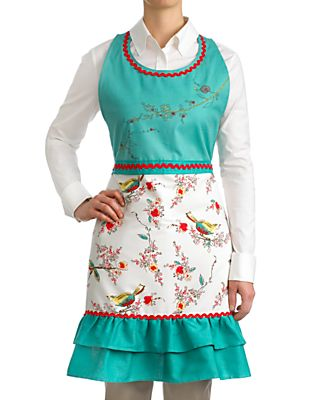 Lenox Apron, Embroidered Chirp