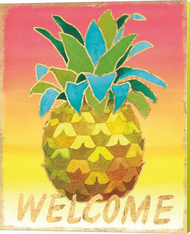 Metaverse Island Time Pineapples V By Beth Grove Canvas Art