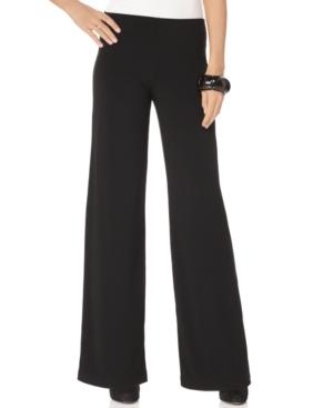 Ellen Tracy Pants, Pull On Wide Leg
