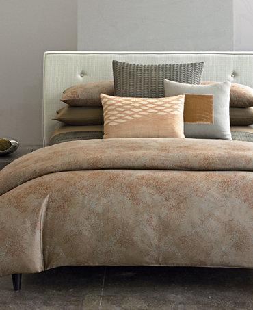 Closeout calvin klein home oxidized paisley bedding Calvin klein bedding