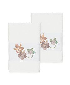Linum Home Caroline 2-Pc. Embroidered Turkish Cotton Hand Towel Set