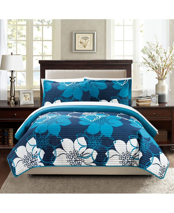 Chic Home - Woodside 7-Pc. Bed in a Bag Quilt Sets