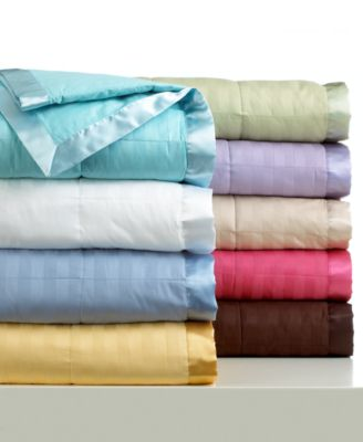 Charter Club Blankets Damask Stripe Down Alternative Blanket Bedding