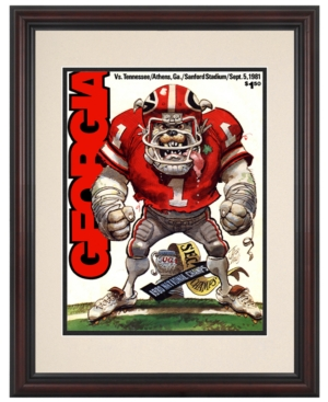 Mounted Memories Wall Art, Framed Georgia vs Tennessee Football Program Cover 1981