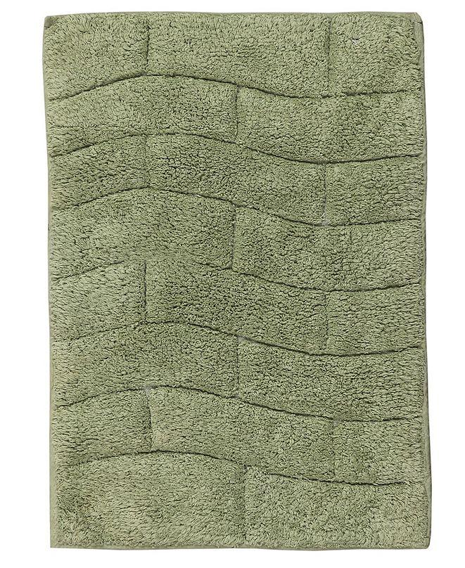 Castle Hill London New Tile 21x34 Cotton Bath Rug