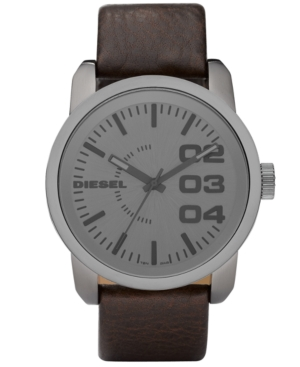 Diesel Watch, Brown Leather Strap 46mm DZ1467 $ 140.00