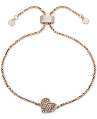 Pavé Heart Slider Bracelet, Created for Macy's