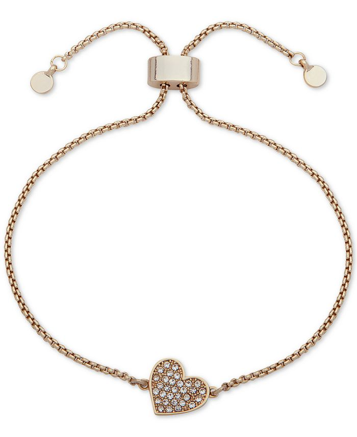 DKNY - Pavé Heart Slider Bracelet