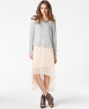 Bar III Skirt, Sheer High Low