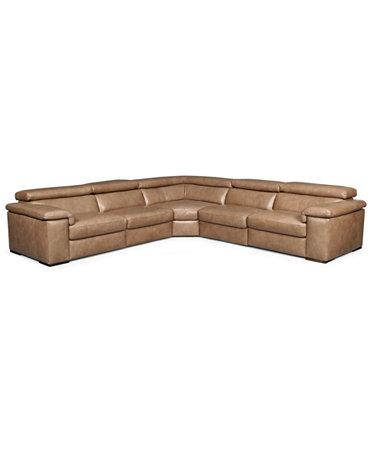 gavin leather sectional sofa 5 piece left arm facing With gavin leather sectional sofa