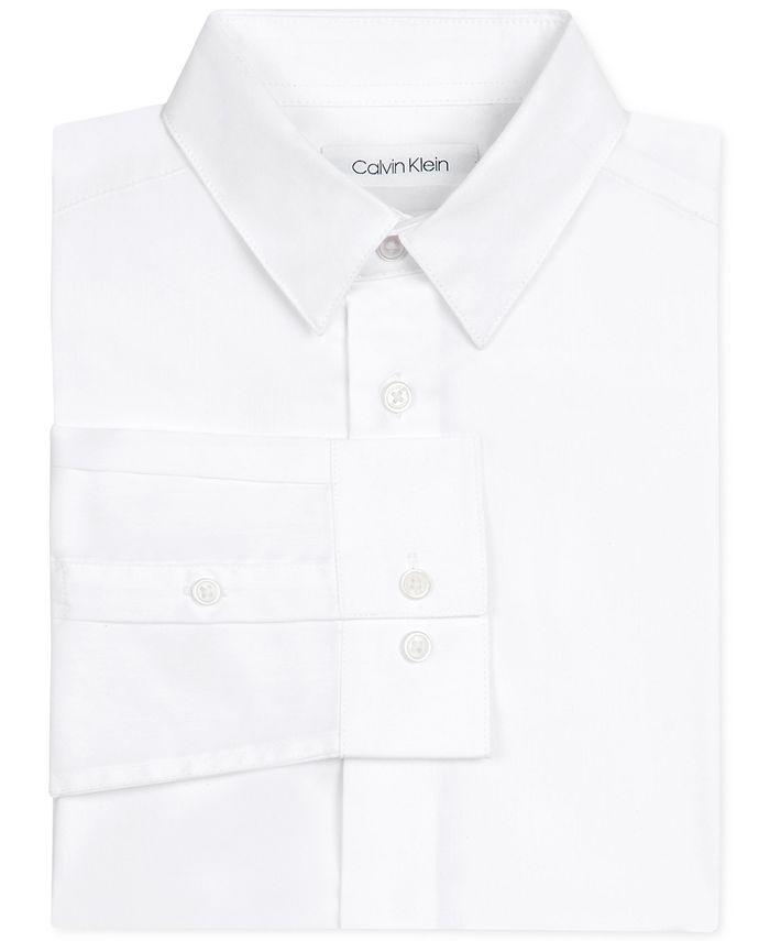 Calvin Klein - Little Boys Stretch-Poplin Collared Shirt