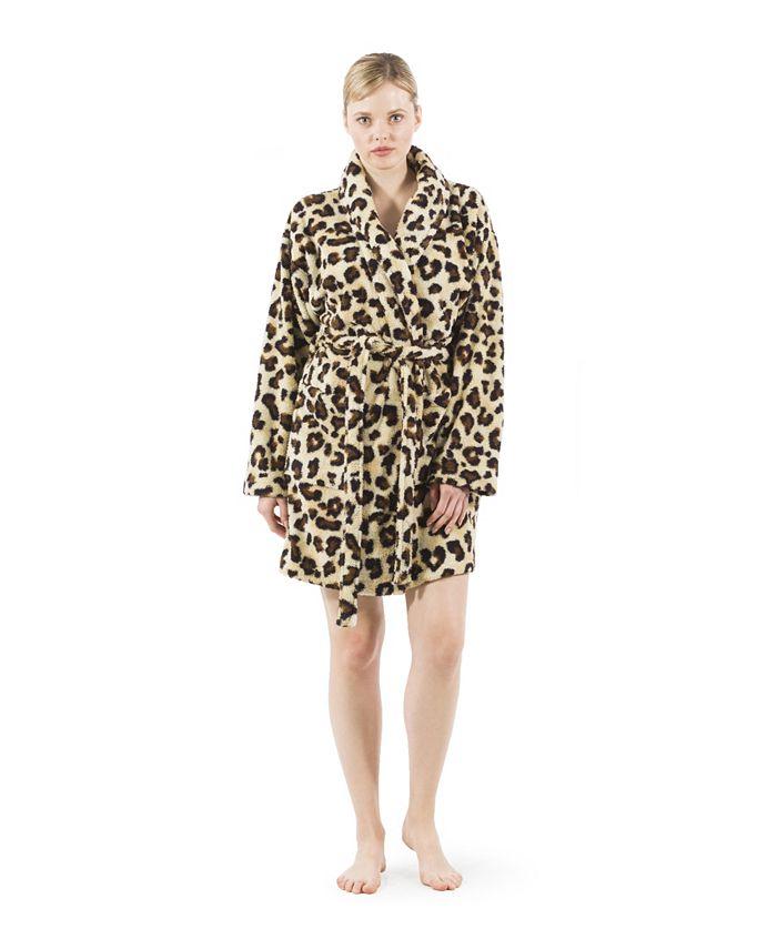 Linum Home - Super Plush Leopard Bath Robe