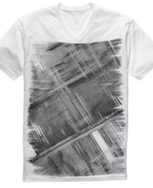 Alfani Shirt, RED Streaks Graphic Tee