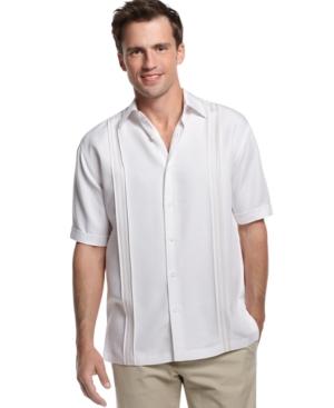 Cubavera Shirt, Big and Tall Short Sleeve Panel Shirt