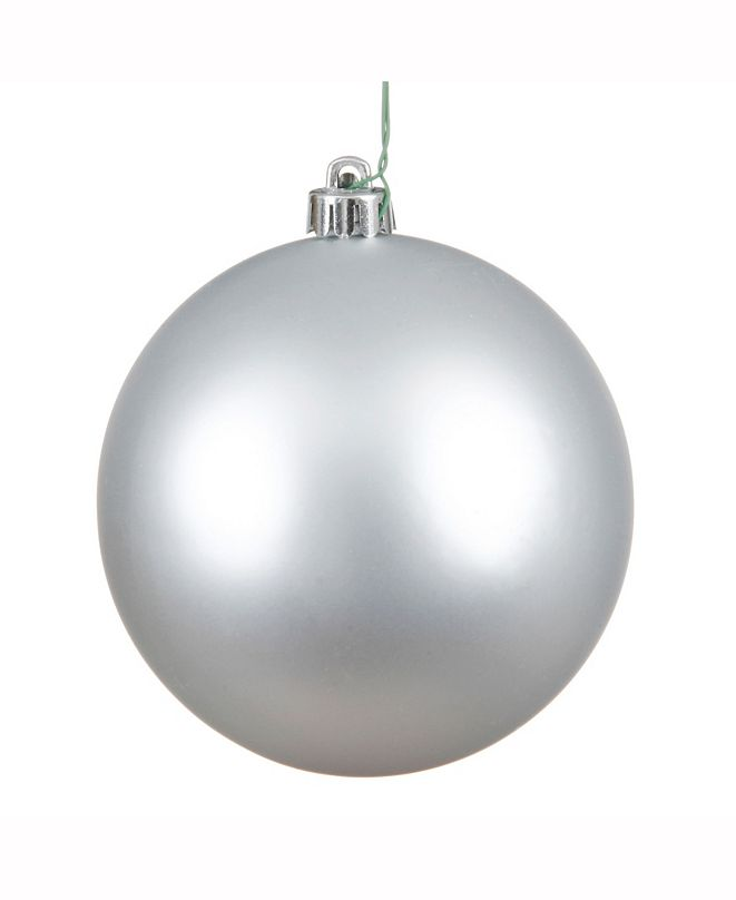 "Vickerman 15.75"" Silver Matte Ball Christmas Ornament"