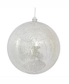 "Vickerman 8"" Silver Shiny Mercury Ball Christmas Ornament"
