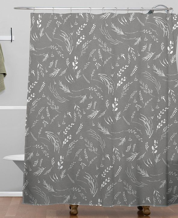 Deny Designs Iveta Abolina Study in Gray X Shower Curtain