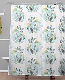 Deny Designs Iveta Abolina Seaflower Shower Curtain