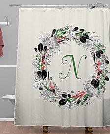 Deny Designs Iveta Abolina Silver Dove Christmas N Shower Curtain